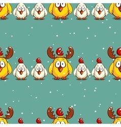 Seamless Pattern Funny Chicks vector image