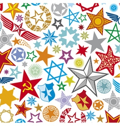 Seamless stars pattern star background vector