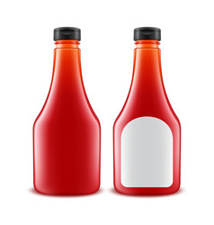 Set of blank glass plastic red tomato vector