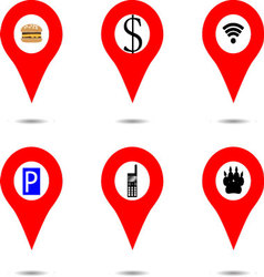 Set of locaction objects vector image