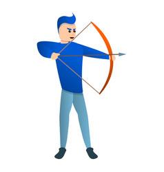 Sport arch shooting icon cartoon style vector