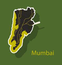sticker map of mumbai vector image