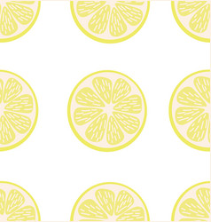 summer slice a lemon seamless pattern vector image