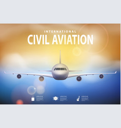 summer travel with airplane on blue vector image