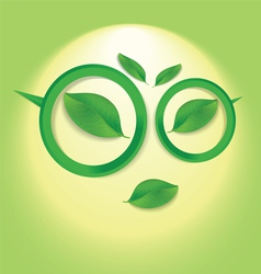 Sun face with glasses vector