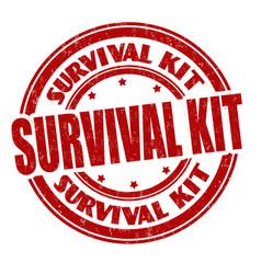 Survival kit sign or stamp vector