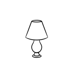 Table lamp hand drawn sketch icon vector