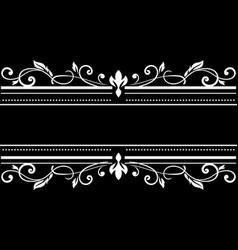 text floral decorations symmetric typographic vector image