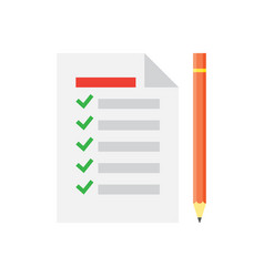 to do list icon checklist task list vector image