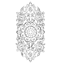 Turkish style digital floral drawing vector