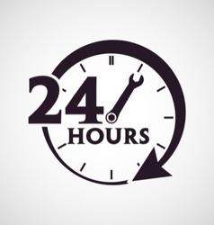 Twenty four hours icon vector image