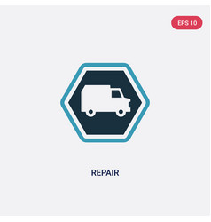 two color repair icon from transport concept vector image