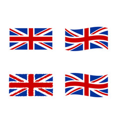 united kingdom flag national symbol of the great vector image