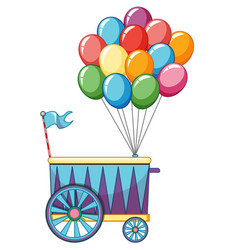Vendor design at funfair colorful balloons vector