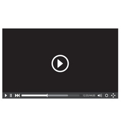 video player interface for web vector image