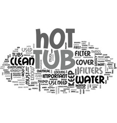 what you need to know about a home hot tub text vector image