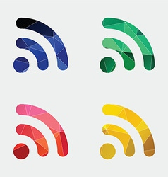 WiFi icon Abstract Triangle vector