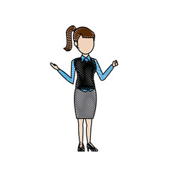 young woman female business office people vector image