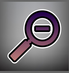 zoom sign violet gradient vector image