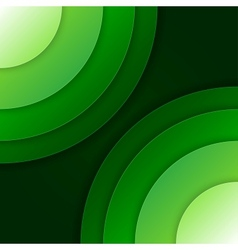Abstract green paper circles background vector image vector image