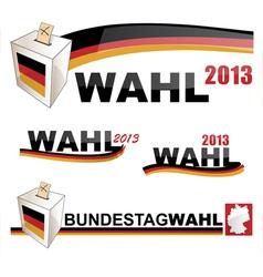GERMAN ELECTIONS vector image vector image
