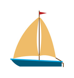 color silhouette of sailboat icon vector image vector image