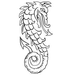 heraldic dragon No4 vector image vector image