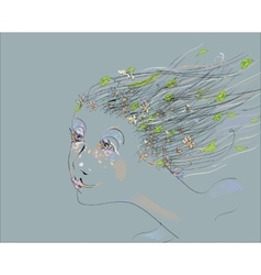 Springtime Girl vector image