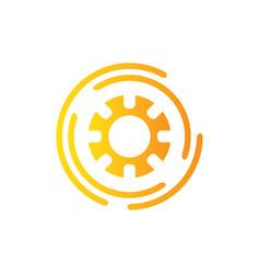 abstract flow logo template design logo vector image