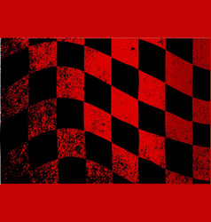 Dirty chequered flag vector