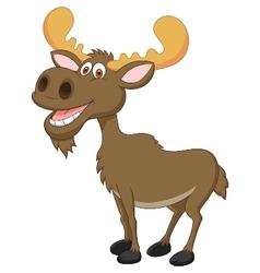 Moose cartoon vector image vector image