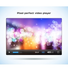 Pixel perfect video player for web vector image vector image