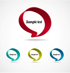 Ribbon Speech Bubble vector image vector image