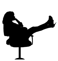 Sexy secretary on chair vector image vector image