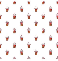 paper cup pattern seamless vector image