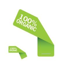 sticker organic green vector image vector image