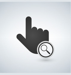 an isolated pointing hand mouse cursor with a vector image