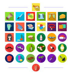 Animals tourism hygiene and other web icon in vector