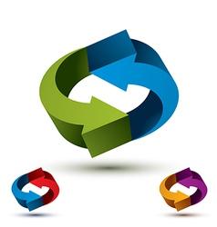 Arrows abstract loop symbol conceptual pictograph vector
