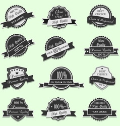 Black Premium Quality labels vector image