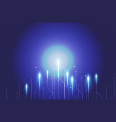 Blue background abstract technology network vector