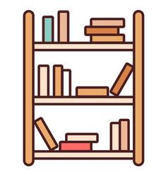 Bookshelf linecolor vector