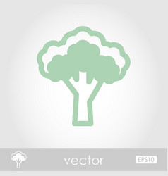 Broccoli outline icon vegetable vector