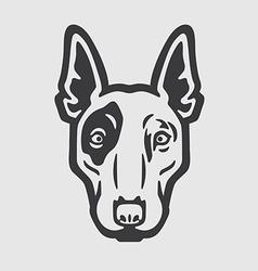 Bull Terrier Head Logo Mascot Emblem vector