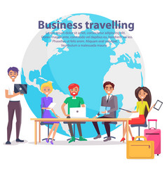 business travelling and globe vector image
