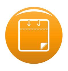 calendar clean icon orange vector image