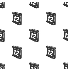 Calendar icon in black style isolated on white vector image