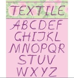 Capital letters textil vector