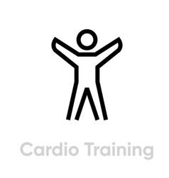 cardio training sport icon vector image