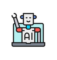 chatbot customer service robot artificial vector image